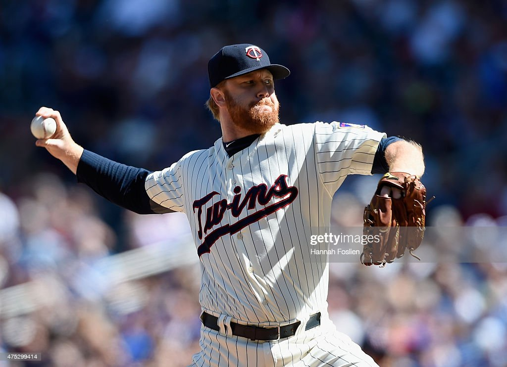 <a gi-track='captionPersonalityLinkClicked' href=/galleries/search?phrase=Blaine+Boyer&family=editorial&specificpeople=836412 ng-click='$event.stopPropagation()'>Blaine Boyer</a> #36 of the Minnesota Twins delivers a pitch against the Toronto Blue Jays during the ninth inning of the game on May 30, 2015 at Target Field in Minneapolis, Minnesota. The Twins defeated the Blue Jays 3-2.