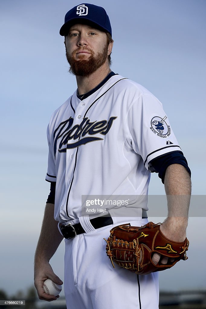 <a gi-track='captionPersonalityLinkClicked' href=/galleries/search?phrase=Blaine+Boyer&family=editorial&specificpeople=836412 ng-click='$event.stopPropagation()'>Blaine Boyer</a> #58 of the San Diego Padres poses for a portrait on Photo Day at the Peoria Sports Complex on February 21, 2014 in Peoria, Arizona.