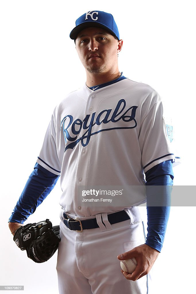 Blaine Hardy #75 of the Kansas City Royals poses for a portrait during Spring Training Media Day on February 23, 2011 at Surprise Stadium in Surprise, Arizona..