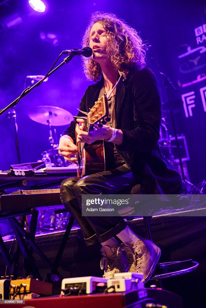 <a gi-track='captionPersonalityLinkClicked' href=/galleries/search?phrase=Blaine+Harrison&family=editorial&specificpeople=537530 ng-click='$event.stopPropagation()'>Blaine Harrison</a> from Mystery Jets performs on the second day of the BBC 6 Music Festival at O2 Academy on February 13, 2016 in Bristol, England.