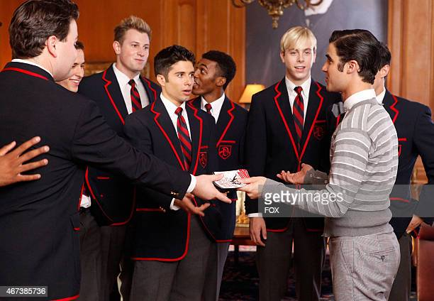 Blaine invites the Warblers to watch West Side Story in 'The First Time' episode of GLEE airing Tuesday Nov 8 on FOX