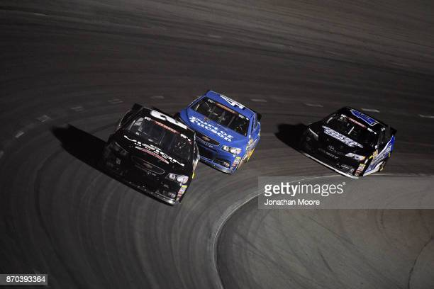 Blaine Perkins driver of the Four Star Fruit Chevrolet races on track during the NASCAR KN Pro Series West Coast Stock Car Hall of Fame Championship...
