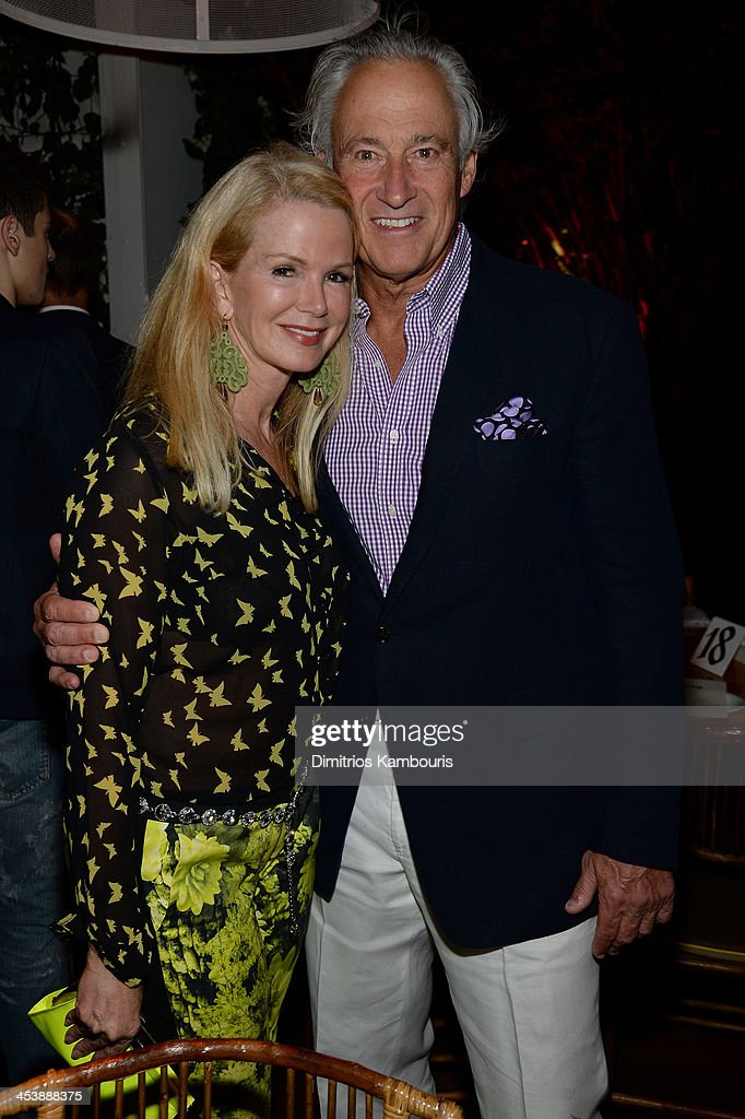 <a gi-track='captionPersonalityLinkClicked' href=/galleries/search?phrase=Blaine+Trump&family=editorial&specificpeople=214124 ng-click='$event.stopPropagation()'>Blaine Trump</a> (L) and guest attend the Aby Rosen & Samantha Boardman Dinner at The Dutch on December 5, 2013 in Miami Beach, Florida.