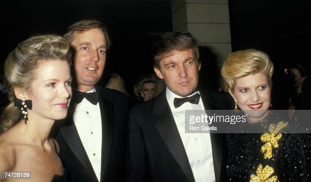 Blaine Trump Robert Trump Donald Trump and Ivana Trump at the Pierre Hotel in New York City New York