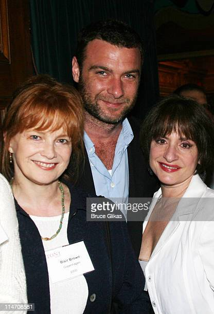 Blair Brown Liev Schreiber and Patti LuPone during 60th Annual Tony Awards Reunion Photo Luncheon June 1 2006 at Sardi's in New York City New York...