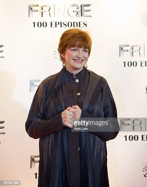 Blair Brown poses for a photo on the red carpet while attending 'Fringe' celebrates 100 episodes and final season at Fairmont Pacific Rim on December...