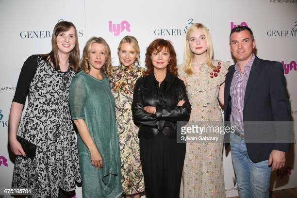 Blair Durked Linda Emond Naomi Watts Susan Sarandon Elle Fanning and Zeke Stokes attends The Weinstein Company and Lyft host a special screening of...