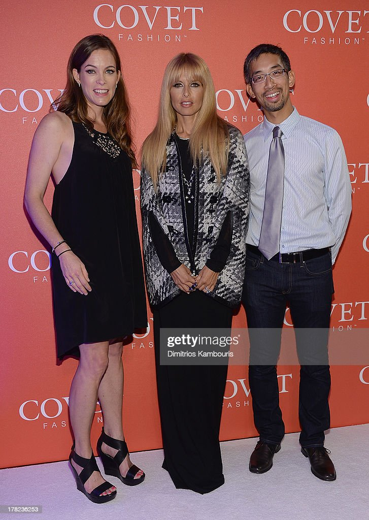 Blair Ethington, Rachel Zoe, and CrowdStar CEO and co-founder Jeffrey Tseng attend the COVET Fashion Launch Event at 82 Mercer on August 27, 2013 in New York City.