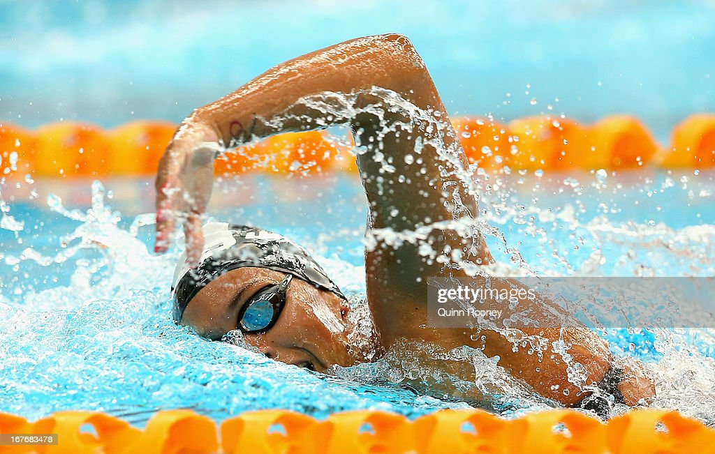 Blair Evans of Australia competes in the Women's 200 Metre Freestyle during day three of the Australian Swimming Championships at SA Aquatic and Leisure Centre on April 28, 2013 in Adelaide, Australia.