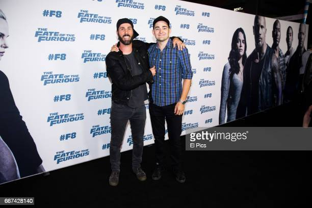 Blair Joscelyne and Martin Mulholland AKA Marty and Moog arrives ahead of The Fate of the Furious Sydney Premiere on April 11 2017 in Sydney Australia