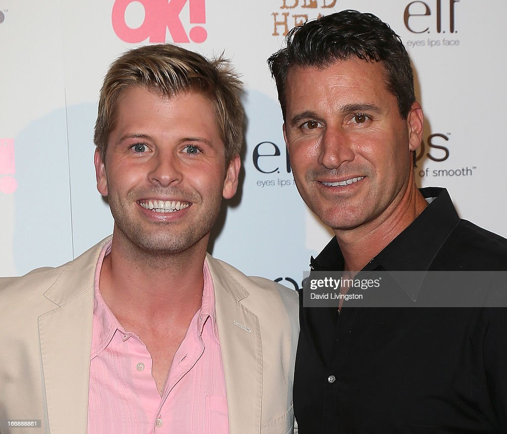 Blair Late (L) and Jeff Pedersen attend the OK! Magazine 'So Sexy' LA party at SkyBar at the Mondrian Los Angeles on April 17, 2013 in West Hollywood, California.