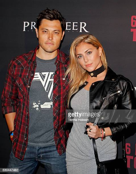 Blair Redford and Cassie Scerbo attend the launch of '6 Bullets To Hell' on May 10 2016 in Los Angeles California