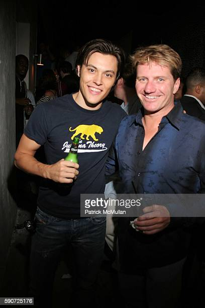 Blair Redford and Eddie Winkler attend Fight for Fame Wrap Party at icandy on July 12 2005 in West Hollywood CA
