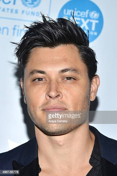 Blair Redford attends the UNICEF Black White Masquerade Ball at The Masonic Lodge at Hollywood Forever on October 30 2015 in Los Angeles California