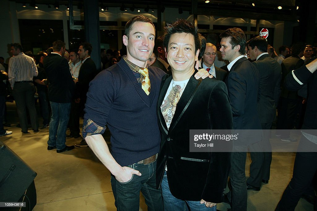 Blair Shepard (L) and Jay Kuo attend the Trevor's Fall Fete at Theory Flagship Store on October 21, 2010 in New York City.