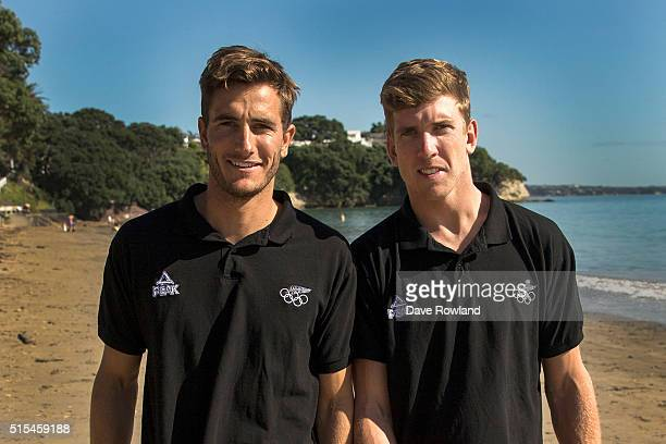 Blair Tuke left and Peter Burling selected for the Olympic Sailing Team in the 49er class on March 14 2016 in Auckland New Zealand