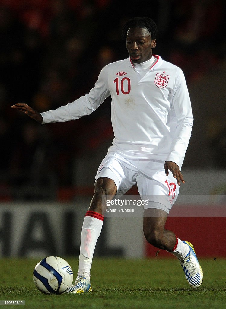 Blair Turgott of England U19 in action during the International Match between England U19 and Denmark U19 at Keepmoat Stadium on February 5, 2013 in Doncaster, England.