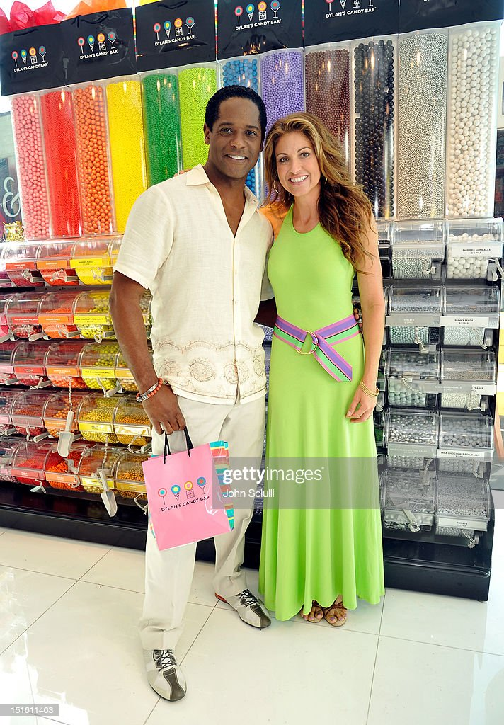Blair Underwood and CEO/Founder Dylan Lauren attend the Dylan's Candy Bar Los Angeles Opening at Original Farmers Market on September 8, 2012 in Los Angeles, California.