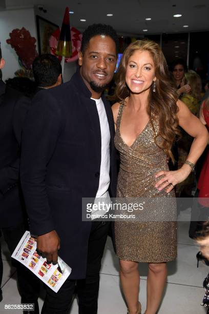 Blair Underwood and Dylan Lauren celebrate the Sweet 16 of Dylan's Candy Bar on October 17 2017 in New York City