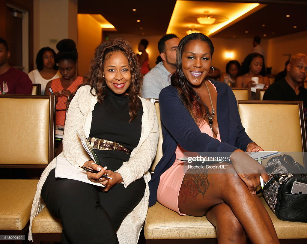 Blaise (L) and Ewanda Wyndela attend the ABFF Encore Master Class during the 2016 BET Experience at the JW Marriott Los Angeles L.A. Live on June 25, 2016 in Los Angeles, California.