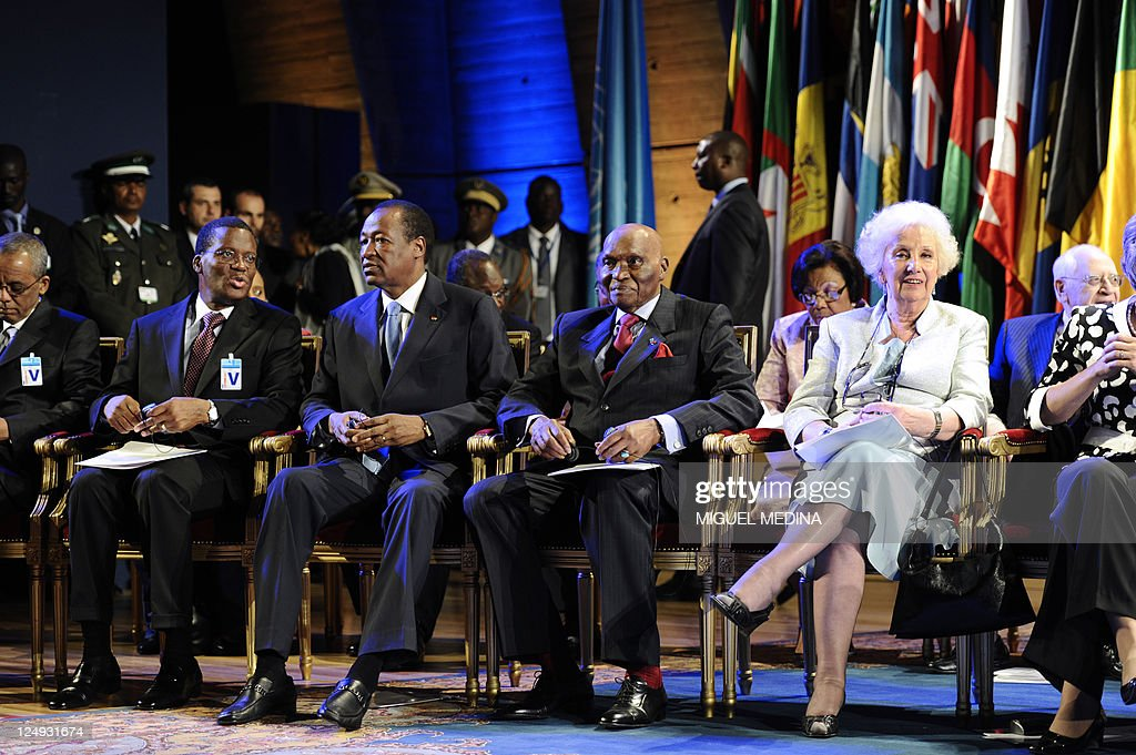 Blaise Compaore Burkina's President Abdoulaye Wade President of Senegal Estela de Carlotto President and founder of the Grandmothers of the Plaza de...