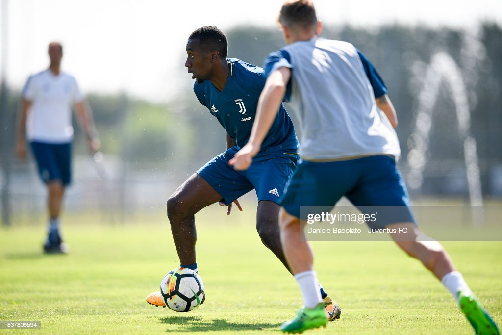 Blaise Matuidi at Juventus Center Vinovo on August 23, 2017 in Vinovo, Italy.