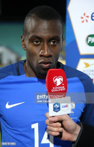 Blaise Matuidi of France answers to french tv TF1 following the FIFA 2018 World Cup Qualifier between Bulgaria and France at Vasil Levski National...