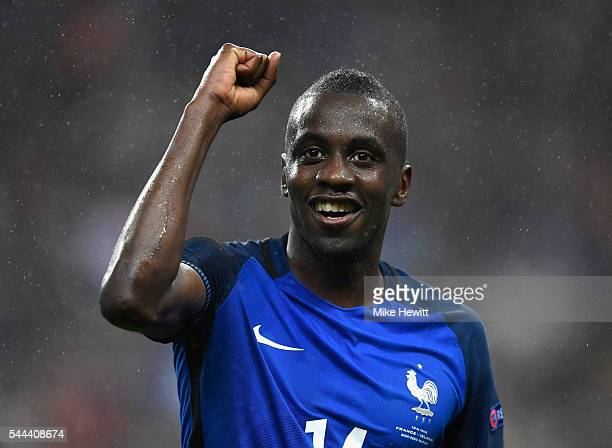 Blaise Matuidi of France celebrates after his team's 52 win in the UEFA EURO 2016 quarter final match between France and Iceland at Stade de France...