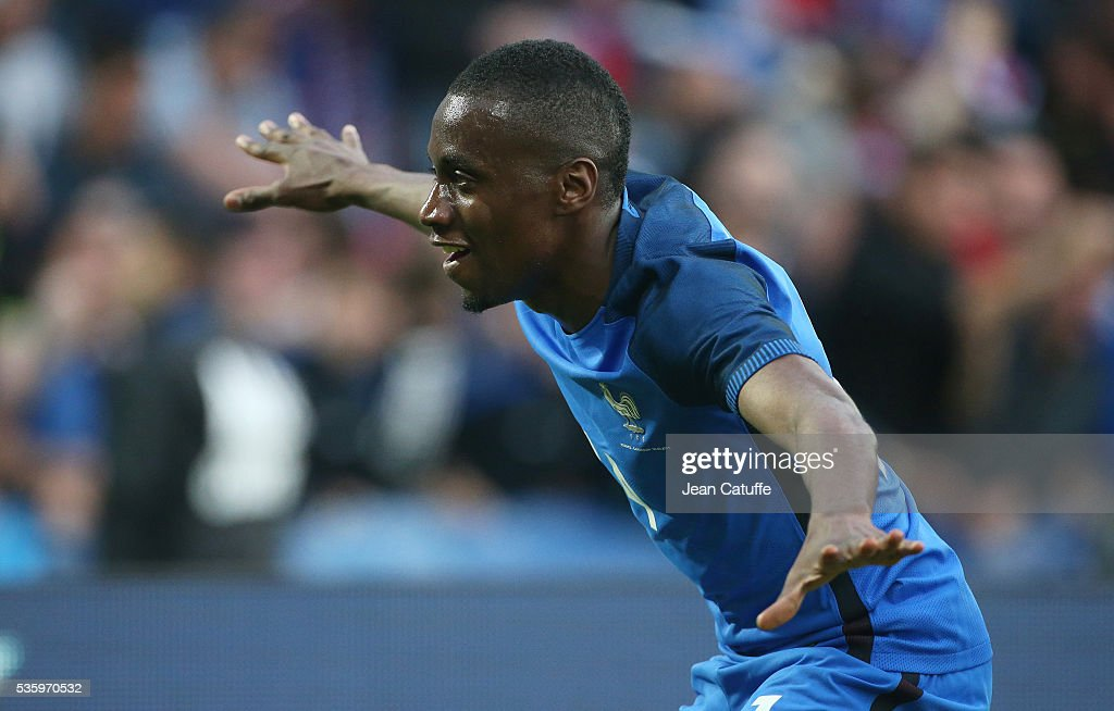 Blaise Matuidi of France celebrates his goal during the international friendly match between France and Cameroon at Stade de La Beaujoire on May 30, 2016 in Nantes, France.