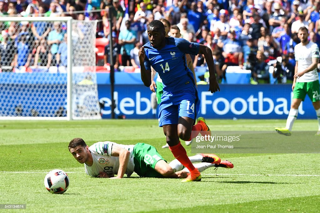 Blaise Matuidi of France during the European Championship match Round of 16 between France and Republic of Ireland at Stade des Lumieres on June 26, 2016 in Lyon, France.