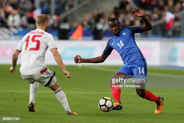 Blaise Matuidi of France in action during the FIFA 2018 World Cup Qualifier between France and Belarus at Stade de France on October 10 2017 in Paris