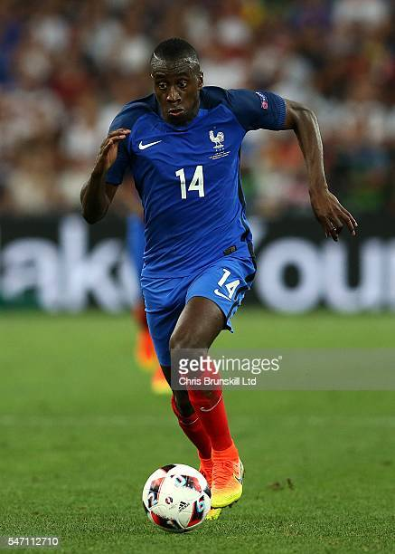 Blaise Matuidi of France in action during the UEFA Euro 2016 Semi Final match between Germany and France at Stade Velodrome on July 07 2016 in...