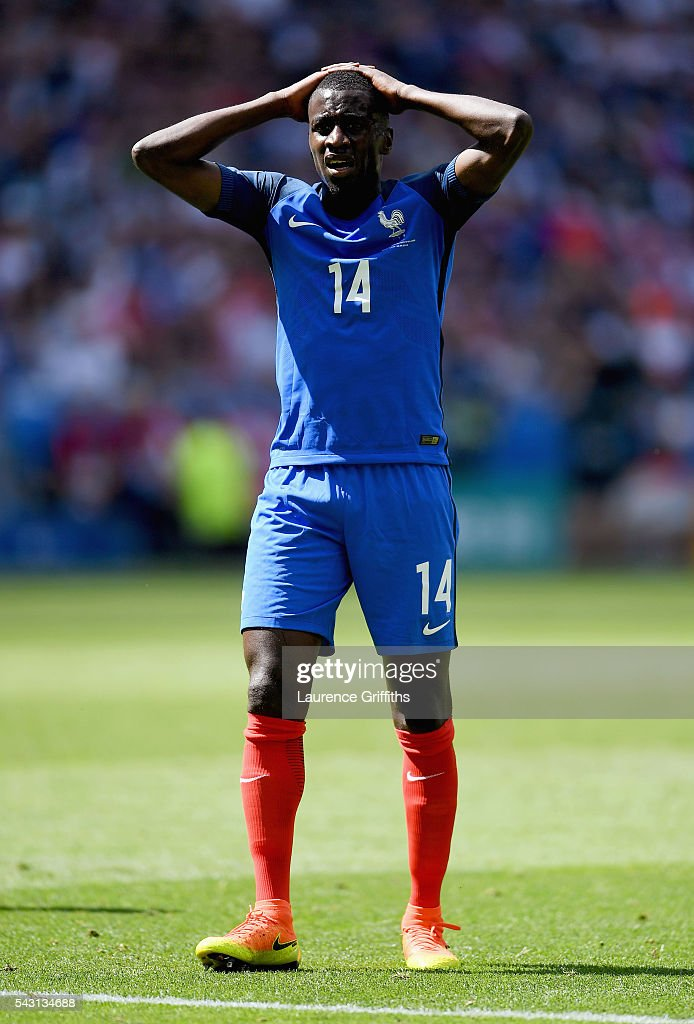 Blaise Matuidi of France reacts after his shot saved during the UEFA EURO 2016 round of 16 match between France and Republic of Ireland at Stade des Lumieres on June 26, 2016 in Lyon, France.