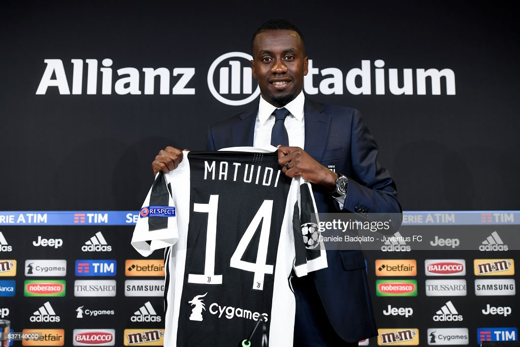 Blaise Matuidi of Juventus attends a press conference at Juventus Center Vinovo on August 22, 2017 in Vinovo, Italy.