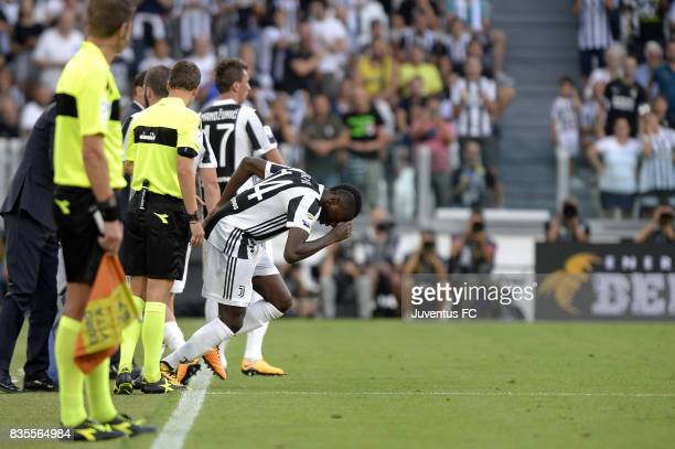 Blaise Matuidi of Juventus enters on the pitch as a substitute during the Serie A match between Juventus and Cagliari Calcio at Allianz Stadium on...