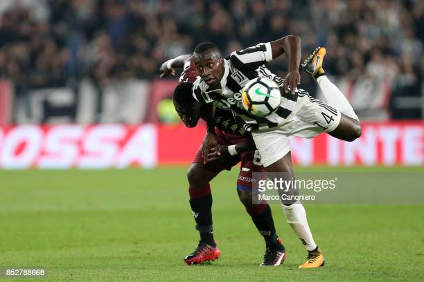 Blaise Matuidi of Juventus FC and M'Baye Niang of Torino FC battle for the ball during the Serie A football match between Juventus Fc and Torino Fc...
