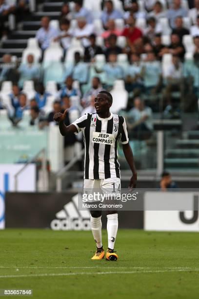 Blaise Matuidi of Juventus FC gestures during the Serie A football match between Juventus FC and Cagliari Calcio Juventus Fc wins 30 over Cagliari...