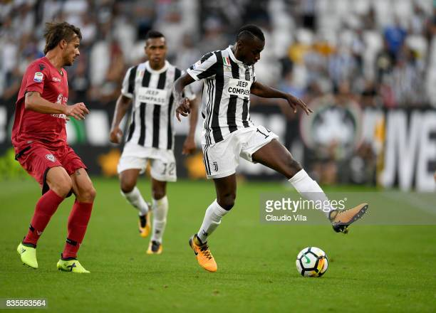 Blaise Matuidi of Juventus FC in action during the Serie A match between Juventus and Cagliari Calcio at Allianz Stadium on August 19 2017 in Turin...