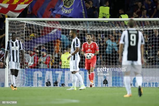 Blaise Matuidi of Juventus FC Medhi Benatia of Juventus FC goalkeeper Gianluigi Buffon of Juventus FC Gonzalo Higuain of Juventus FC during the UEFA...