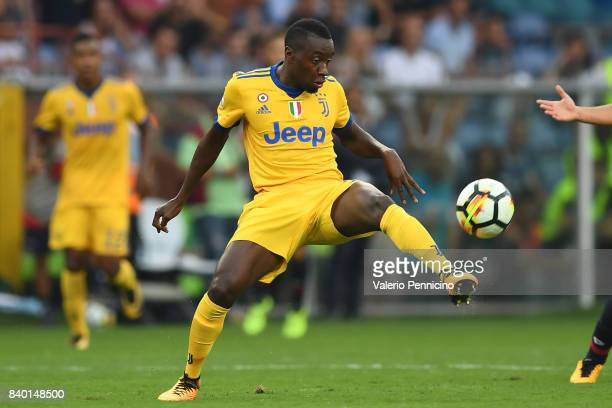 Blaise Matuidi of Juventus in action during the Serie A match between Genoa CFC and Juventus at Stadio Luigi Ferraris on August 26 2017 in Genoa Italy