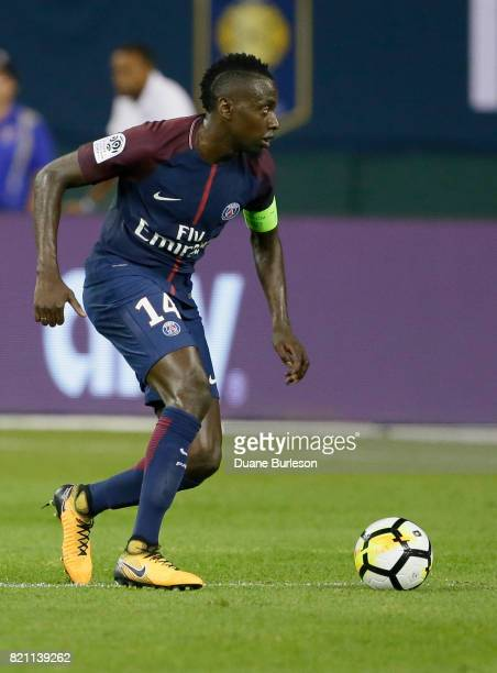 Blaise Matuidi of Paris SaintGermain advances the ball against AS Roma during the second half at Comerica Park on July 19 2017 in Detroit Michigan