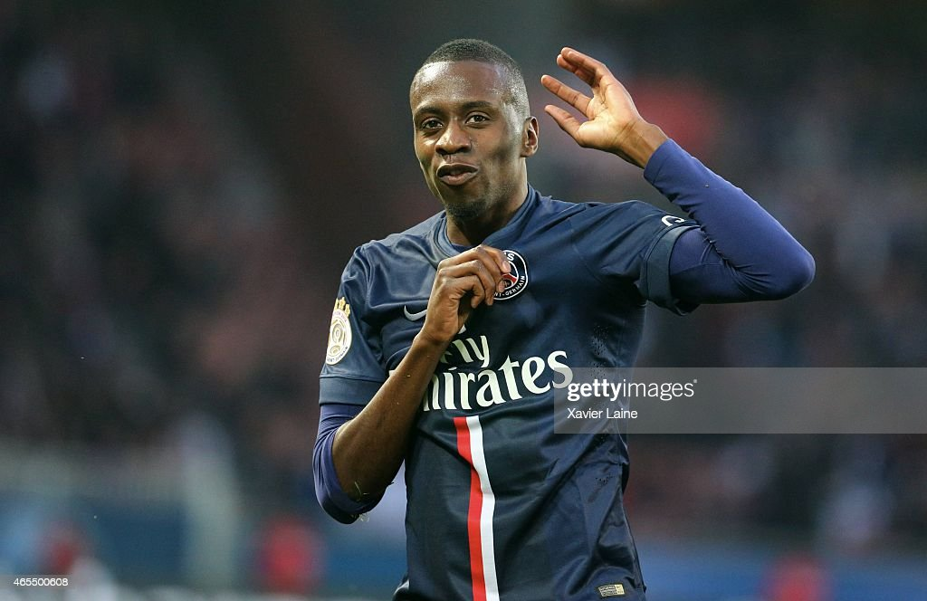 <a gi-track='captionPersonalityLinkClicked' href=/galleries/search?phrase=Blaise+Matuidi&family=editorial&specificpeople=801779 ng-click='$event.stopPropagation()'>Blaise Matuidi</a> of Paris Saint-Germain celebrate his goal during the French Ligue 1 between Paris Saint-Germain FC and RC Lens at Parc Des Princes on march 7, 2015 in Paris, France.