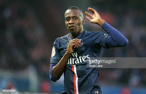 Blaise Matuidi of Paris SaintGermain celebrate his goal during the French Ligue 1 between Paris SaintGermain FC and RC Lens at Parc Des Princes on...