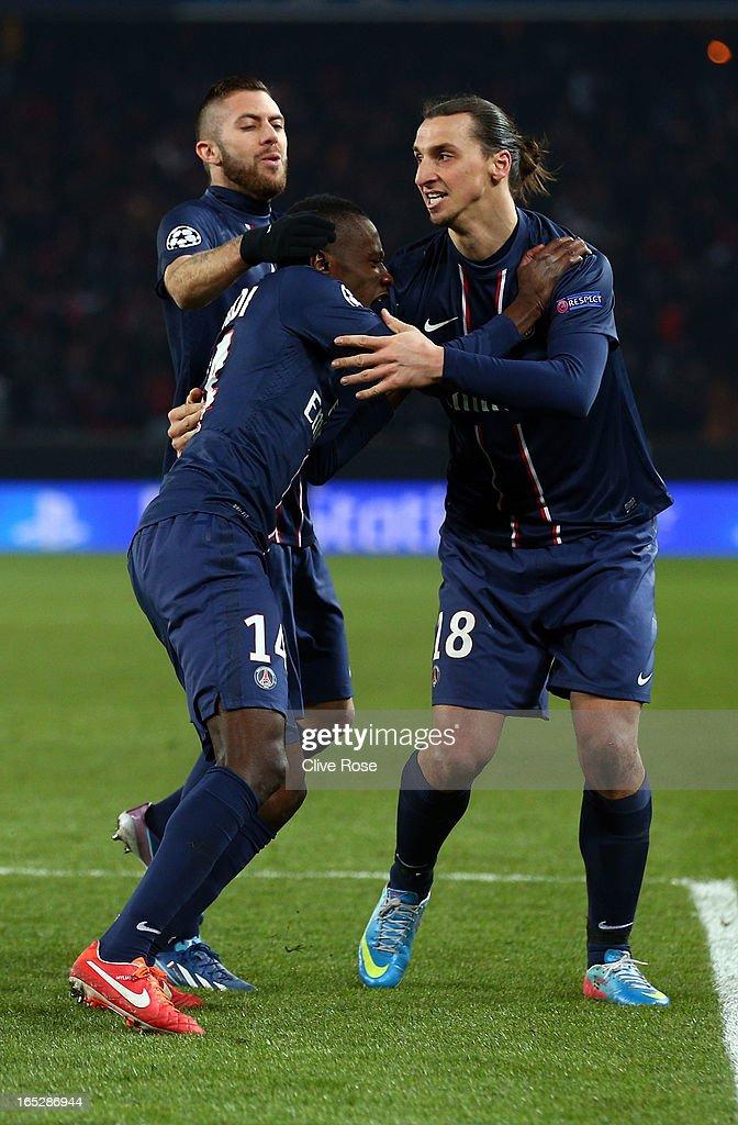 Blaise Matuidi of Paris Saint-Germain celebrates his goal during the UEFA Champions League Quarter Final match between Paris Saint-Germain and Barcelona FCB at Parc des Princes on April 2, 2013 in Paris, France.