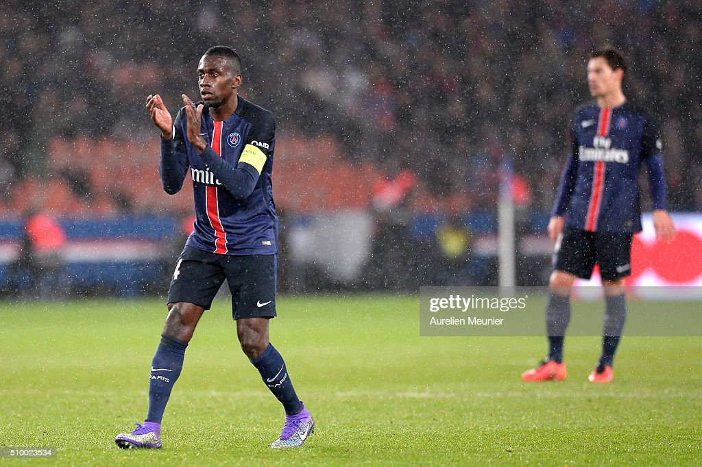 <a gi-track='captionPersonalityLinkClicked' href=/galleries/search?phrase=Blaise+Matuidi&family=editorial&specificpeople=801779 ng-click='$event.stopPropagation()'>Blaise Matuidi</a> of Paris Saint-Germain encourages his teammates during the Ligue 1 game between Paris Saint-Germain and Lille OSC at Parc des Princes on February 13, 2016 in Paris, France.