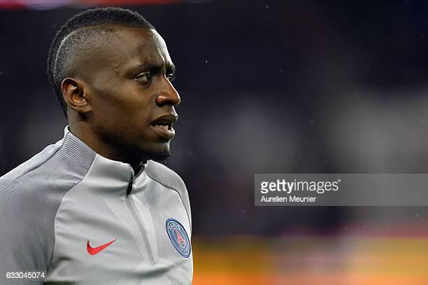 Blaise Matuidi of Paris SaintGermain reacts during warmup before the French Ligue 1 match between Paris Saint Germain and Monaco at Parc des Princes...