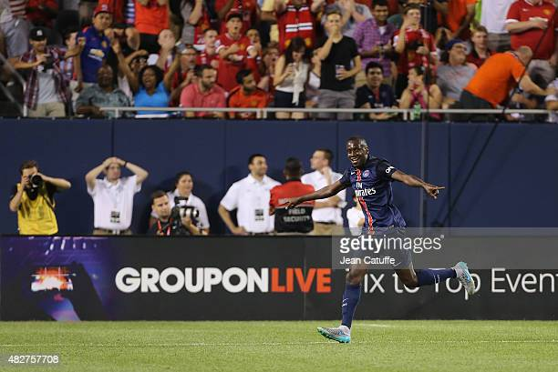 Blaise Matuidi of PSG celebrates his goal during the International Champions Cup 2015 game between Manchester United and Paris SaintGermain at...