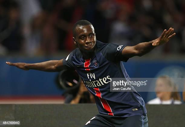 Blaise Matuidi of PSG celebrates scoring a goal during the French Ligue 1 match between Paris SaintGermain FC and GFC Ajaccio at Parc des Princes...