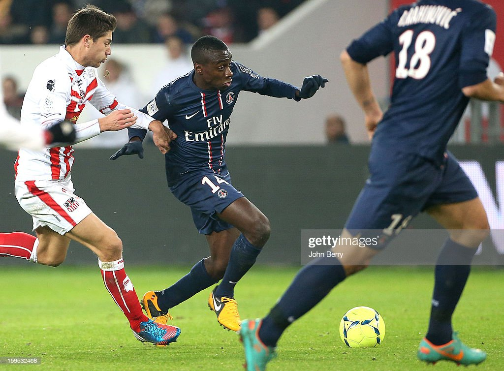 Blaise Matuidi of PSG in action during the French Ligue 1 match between Paris Saint Germain FC and AC Ajaccio at the Parc des Princes stadium on January 11, 2013 in Paris, France.
