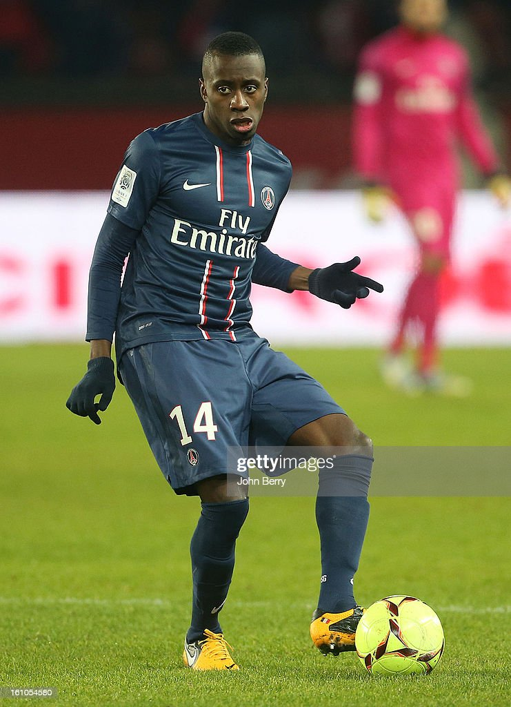 Blaise Matuidi of PSG in action during the French Ligue 1 match between Paris Saint Germain FC and Sporting Club de Bastia at the Parc des Princes stadium on February 8, 2013 in Paris, France.
